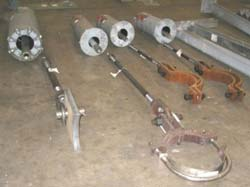 Various Variable Support Assemblies for a Power Generation Facility