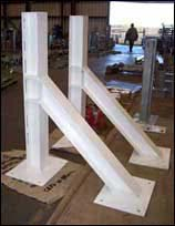 Steel Structural Supports with a 3 Coat Paint System