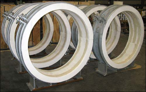 48″ Guided Pre-Insulated Pipe Supports for High Temperatures