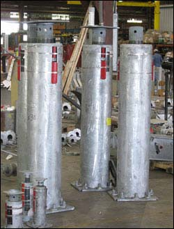 5′ 7-1/2 Inch Tall F-Type Variable Spring Support Assemblies for an Oil Refinery in California