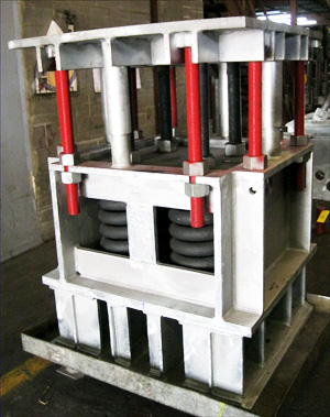 Big Ton Spring Support Designed for a Maximum Load of 93,000 lb. for a Chemical Plant in Baton Rouge, Louisiana