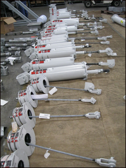 Variable Spring Supports for a Gas Storage Facility