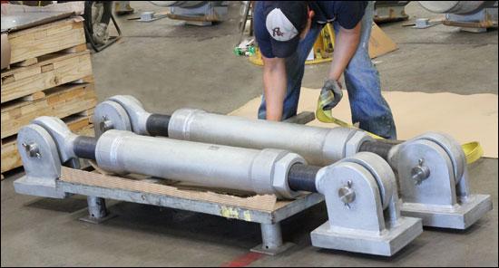 Large Custom Sway Struts Designed for a Liquid Filters Manufacturer