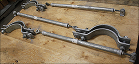Sway Strut and Pipe Clamp Assemblies For Energy Combustibles And Lubricants Facility