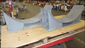 Heavy Duty Pipe Saddles Designed for an Ethane Craker