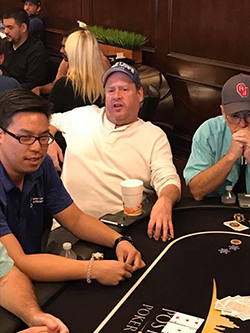 PT&P playing poker for Hurricane Harvey Relief