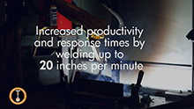 View a video on our robotic welding machine