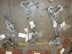 Type 1 heavy duty beam clamps with hanger rods