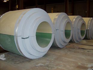 Multi-density insulation for large pipe