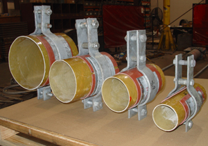 Pipe Clamps Designed for FRP Pipes