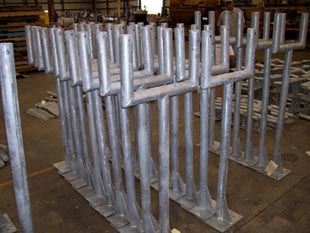 Dual instrument stands with galvanized coating