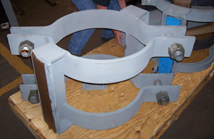 24 inch Pipe Shoe with Clamps