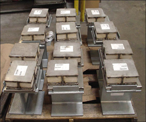 Slide Plate Assemblies with Marinite Insulation and Vibration Pads