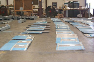 PTFE, 25% Glass Filled, Slide Plates for a Chemical Plant in Texas