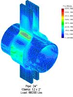 Image of FEA done for plate thickness.