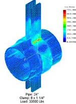 Image of FEA done on plate thickness