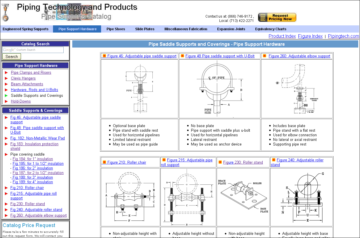 Pipe Support Selection Chart | Piping Technology & Products, Inc