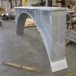 Custom pipe saddles for large diameter duct work
