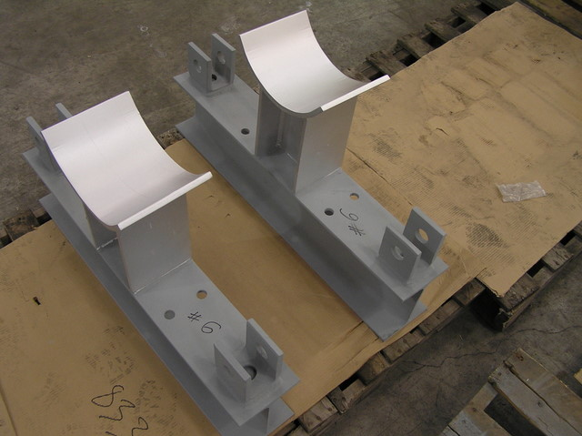 Pipe Saddles to be used in a Trapeze Hanger Assembly