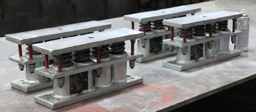 "Custom ""Mini"" Big Ton Spring Supports Designed for a Centrifugal Fan"
