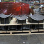 Various sized pipe saddles ready for shipment