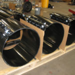 Full circumference clamp on pipe saddles with custom coating