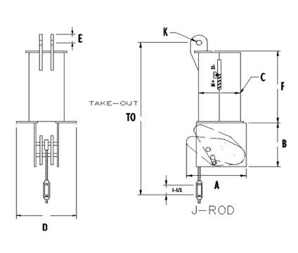 Ptp fig.100 n constant spring support drawing
