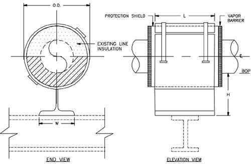 CS-1010 Resting Cold Shoe (Split-T Base, 180 Insulation)