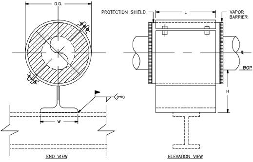 CS-2010 Anchor Type Cold Shoe (Split-T Base, Welded)