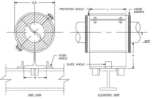 CS-2011 Anchor Type Cold Shoe (Split-T Base, Stops, Guides)
