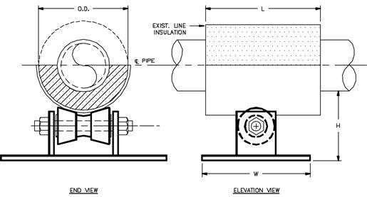 CS-6040 Misc. Cold Shoe (Roller Type)