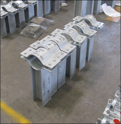 Custom Designed Pipe Clamp-Guides for an LNG facility in Algeria