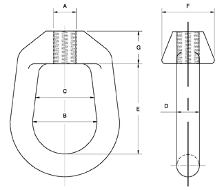 Fig. 40: Weldless Eye Nut