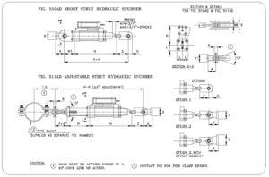 Fig. 510AD - Short Strut Hydraulic Snubber & Fig. 511AD Adjustable Strut Hydraulic Snubber