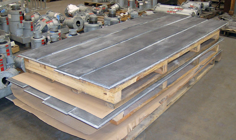 10 Feet Long Graphite Slide Plates for a Plant in Alberta