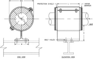 HS-2012 Anchor Hot Pipe Shoe (Split-T Base, Bolted)