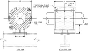 HS-2032 Anchor Hot Pipe Shoe (Double-T Base, Bolted)