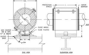 HS-3021 Sliding Hot Pipe Shoe (U-Type Base, Guided, without Thrust Plates)