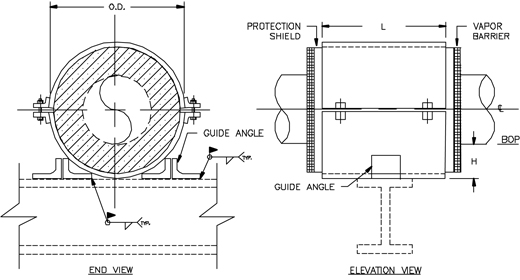 HS-4001 Guided Hot Pipe Shoe (Without Base)