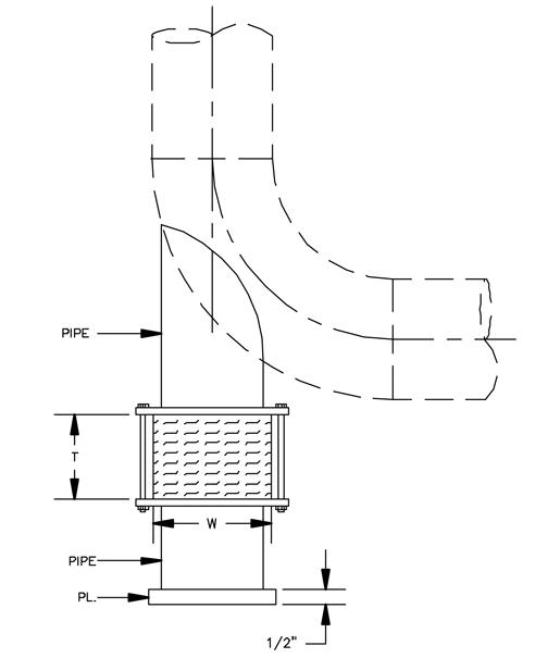 HS-6030 Misc. Hot Pipe Shoe (Dummy Leg)