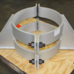 Pipe clamp assemblies custom designed for a partial oxidation unit in a synthetic gas plant 20220320028 o