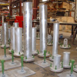 05 adjustable base supports and flanged trunnions for cold piping