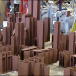 Structural Supports Coated with Red Oxide Primer for a Power Plant