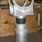 "Custom Elevated Pipe Shoe-Clamp Supports Designed for a 12"" Diameter Transfer Line in a Polymer Plant"