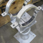 Custom Elevated Pipe Shoe-Clamps Designed for a 12_ Diameter Transfer Line in a Polymer Plant