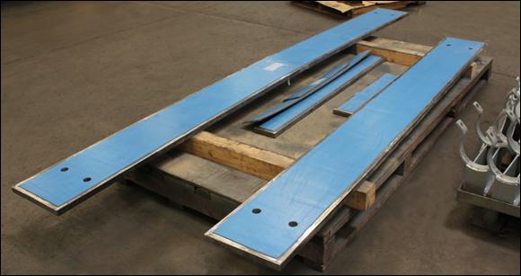 PTFE, 25% Glass Filled Slide Plates