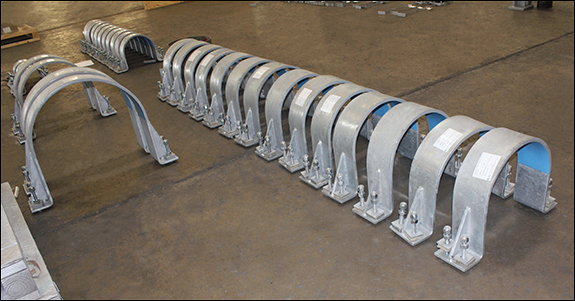 "24"" Hold-down Clamps w/ PTFE Slide Plates for a Natural Gas Plant"