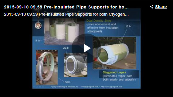 PRE-INSULATED PIPE SUPPORTS FOR BOTH CRYOGENIC AND HIGH TEMPERATURE APPLICATIONS WEBINAR