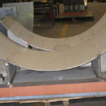Custom stainless steel pipe saddles with permali insulation