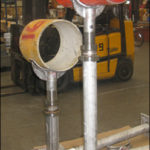 38 adjustable pipe saddle supports designed for a booster pump station rehabilitation project in florida